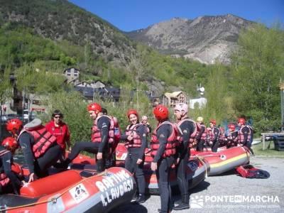 Rafting Noguera Pallaresa - Parque Nacional de Aigüestortes y Lago San Mauricio; asociacion de send